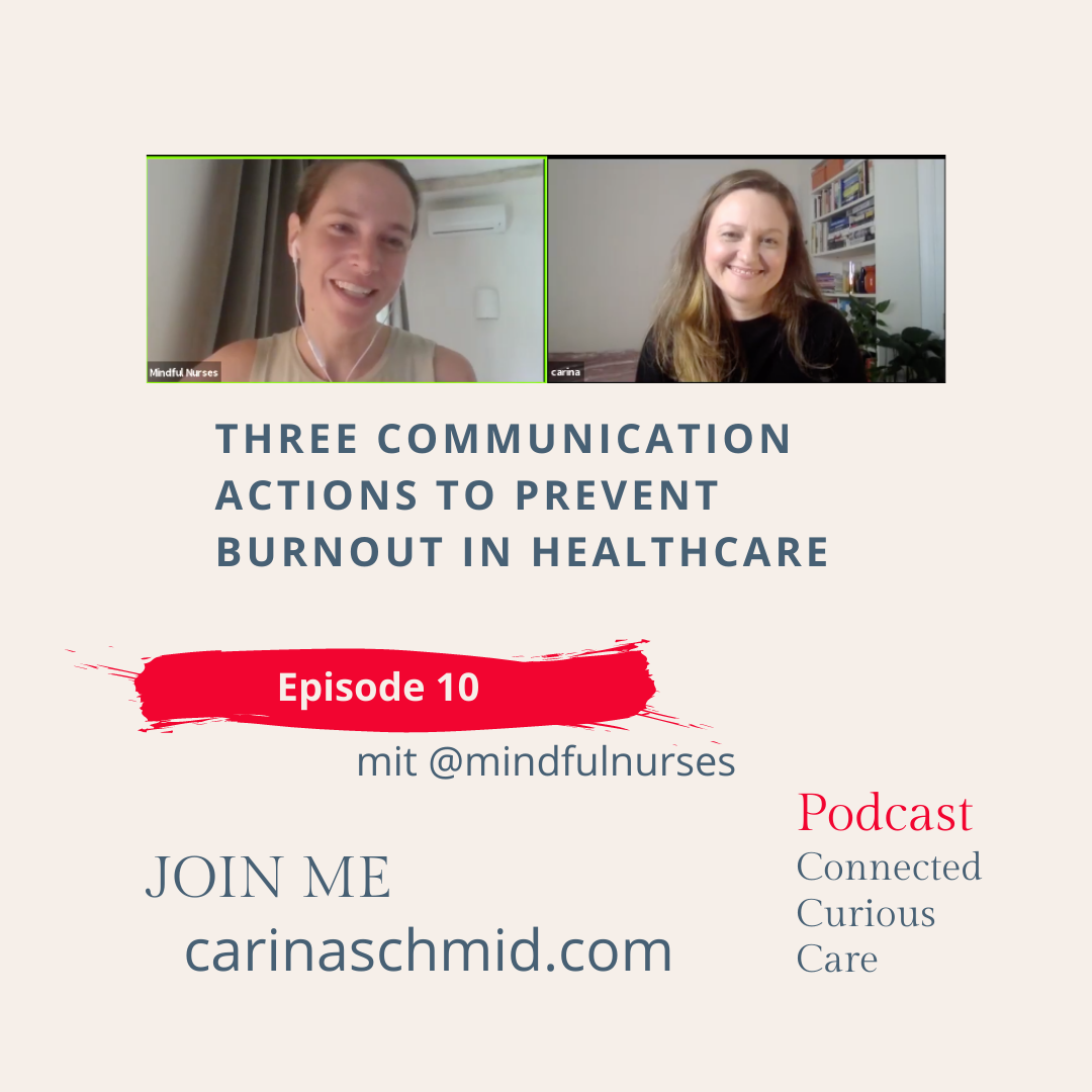 Three communication actions to prevent burnout in healthcare